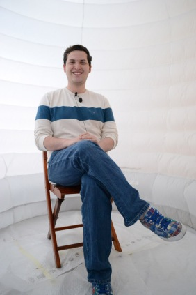 David, dreamer at the Jorge Taleo University, Bogotà, Colombia